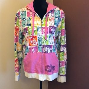 XL Disney zip hooded sweatshirt - Alice in wonder